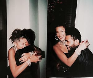 the weeknd, love, and bella hadid image
