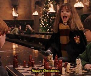 christmas, gif, and hogwarts image