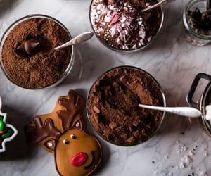 christmas, winter, and dessert image