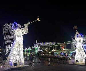 christmas, lights, and night image