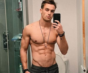 abs, boy, and male model image