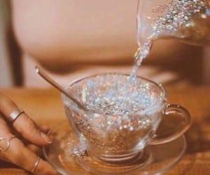 glitter, tea, and aesthetic image