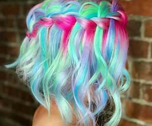 colorful, hair, and pretty image