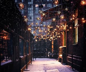 snow, light, and christmas image
