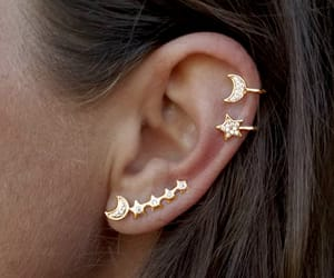ear, earrings, and fashion image