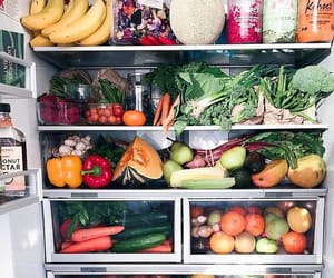 healthy, food, and fridge image