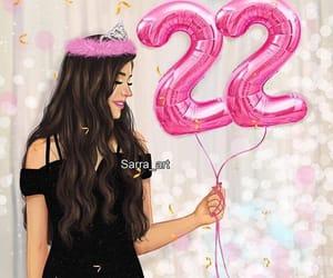 22, happy birthday, and art image