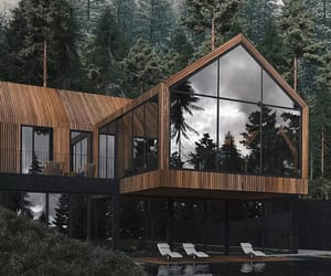 architecture, forest, and design image