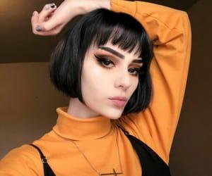 hair, haircut, and laranja image