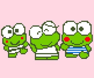 art, frog, and pixel image