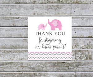 baby shower favors, baby girl shower, and baby shower labels image