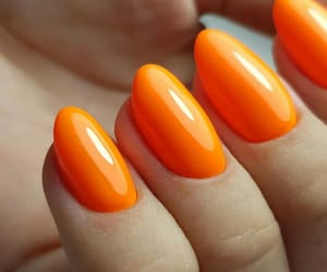 nail, nails, and orange image