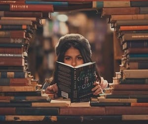 book, girl, and photo image