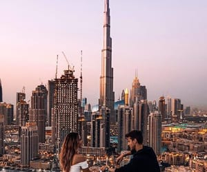 couple, travel, and city image
