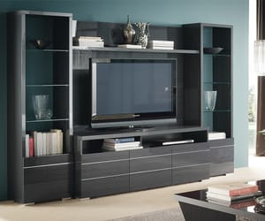 entertainment center, modern wall unit, and wall unit image