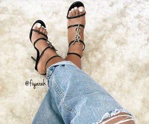 ysl yves saint laurent, stylish sandals, and goal goals life image