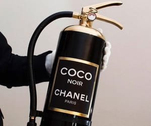 chanel, black, and coco chanel image