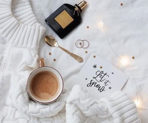 coffee, winter, and lights image