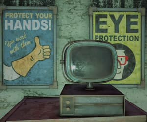 eye, television, and fallout image
