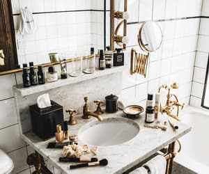 bathroom, cosmetics, and home image