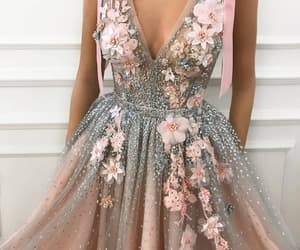 kleid, pink, and rose image