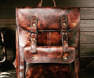 business backpack, men's leather bags, and vintage leather backpacks image