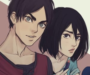 eren jaeger, attack on titan, and aot image