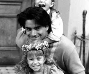 full house, john stamos, and black and white image