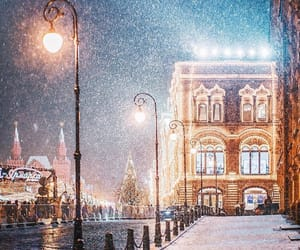 winter, moscow, and snow image