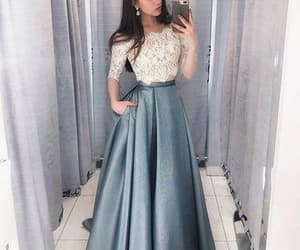 blue, outfit, and Prom image