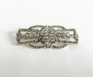 etsy, marcasite pin, and elegant brooch pin image