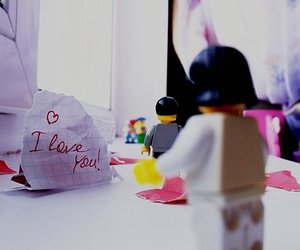 I Love You, lego, and pink image