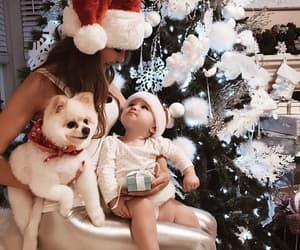 baby, christmas, and dog image