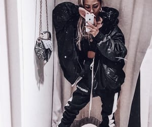 black, sporty, and coat image