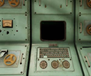 computer, technology, and fallout image