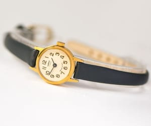 etsy, unique women watch, and womens watch gold image