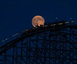 moon, night, and fun image