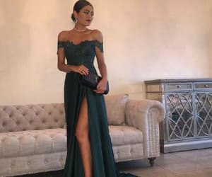 beautiful prom dresses, evening dress a-line, and evening dress lace image