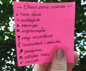 notes, recordar, and pink image