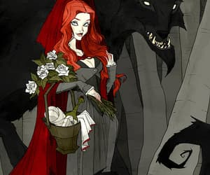 gothic, werewolf, and redridinghood image