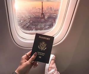paris, travel, and passport image
