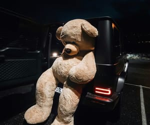 car and teddy image