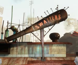 baseball bat, diamond city, and sign image