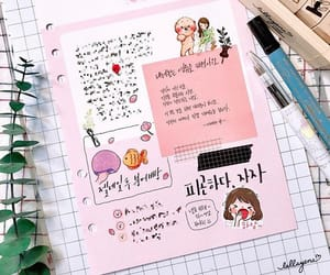 diary, pink, and writing image