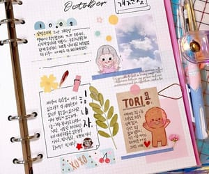 blue, decoration, and diary image