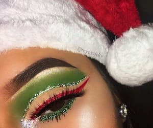 beauty, glitter, and green image