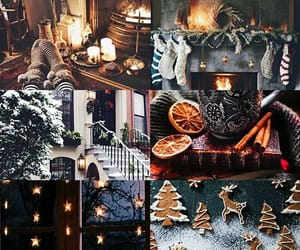 christmas, sparkle, and Collage image