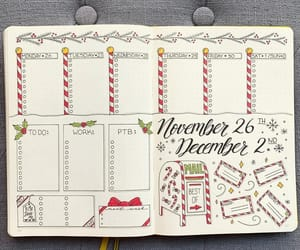 article, bullet journal, and december image