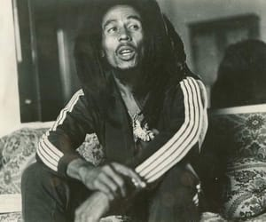 bob marley, dreads, and hippie image