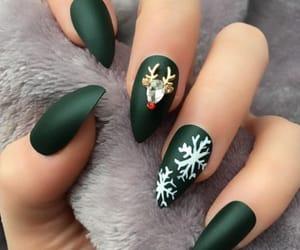 christmas, snowflake, and green image